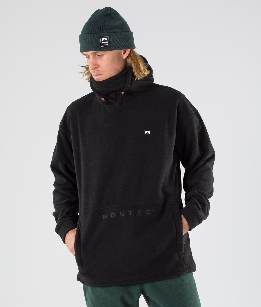 Montec Delta Fleece Hood Black Fleece Hood Black