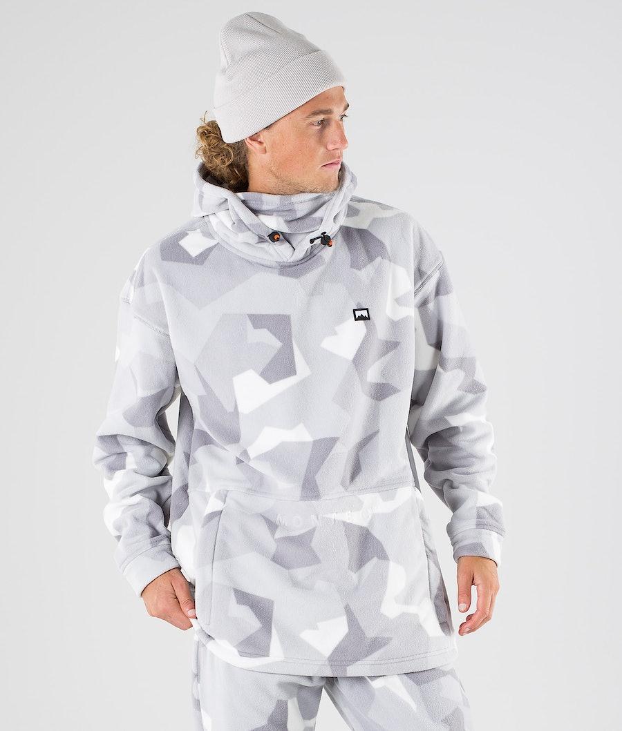 Montec Delta Fleece Hood Ski Camo Fleece Hood Snow Camo