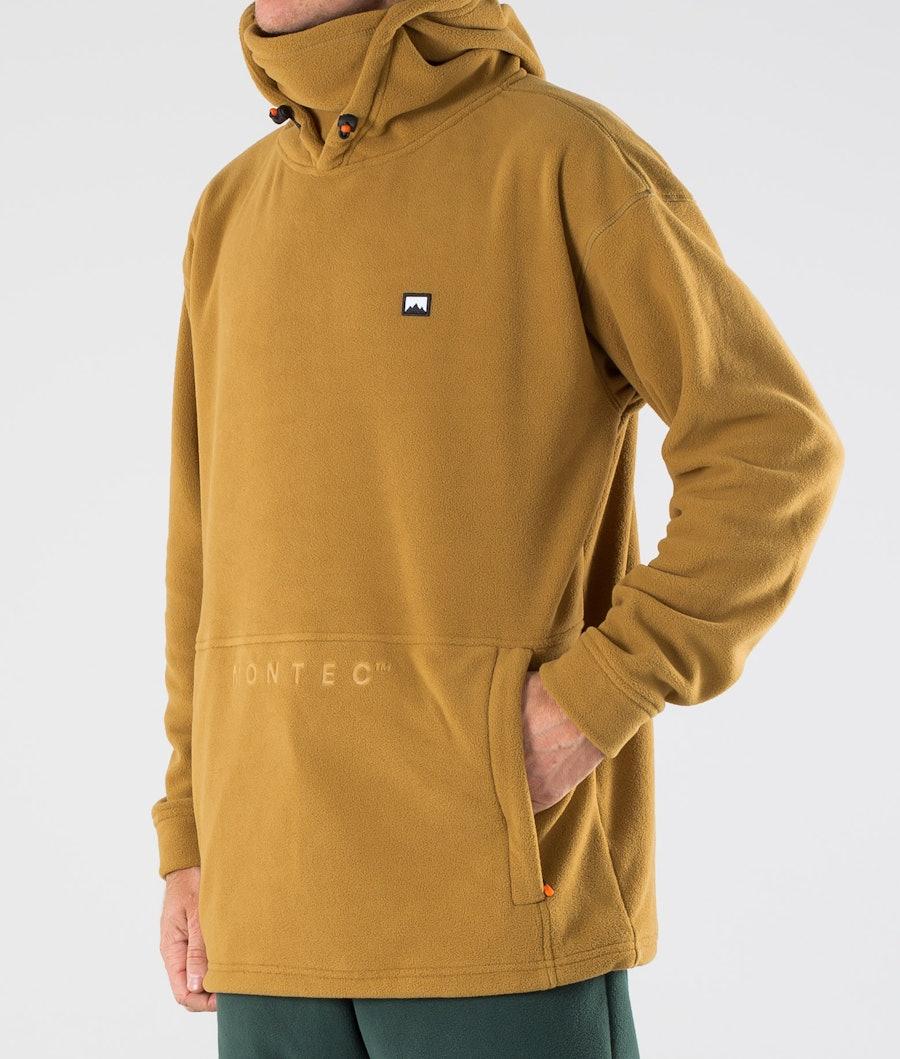 Montec Delta Fleece Hoodie Gold