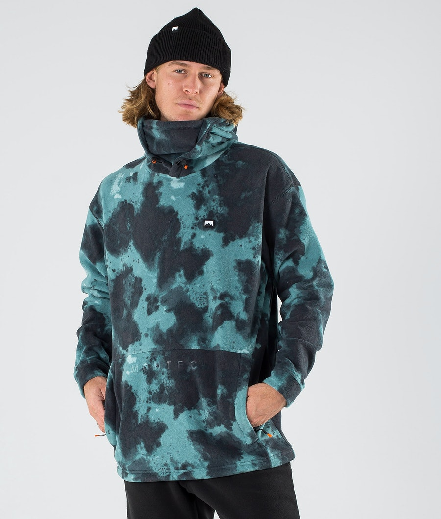 Montec Delta Fleece Hood Green Tie Dye Fleece Hood Green Tie Dye