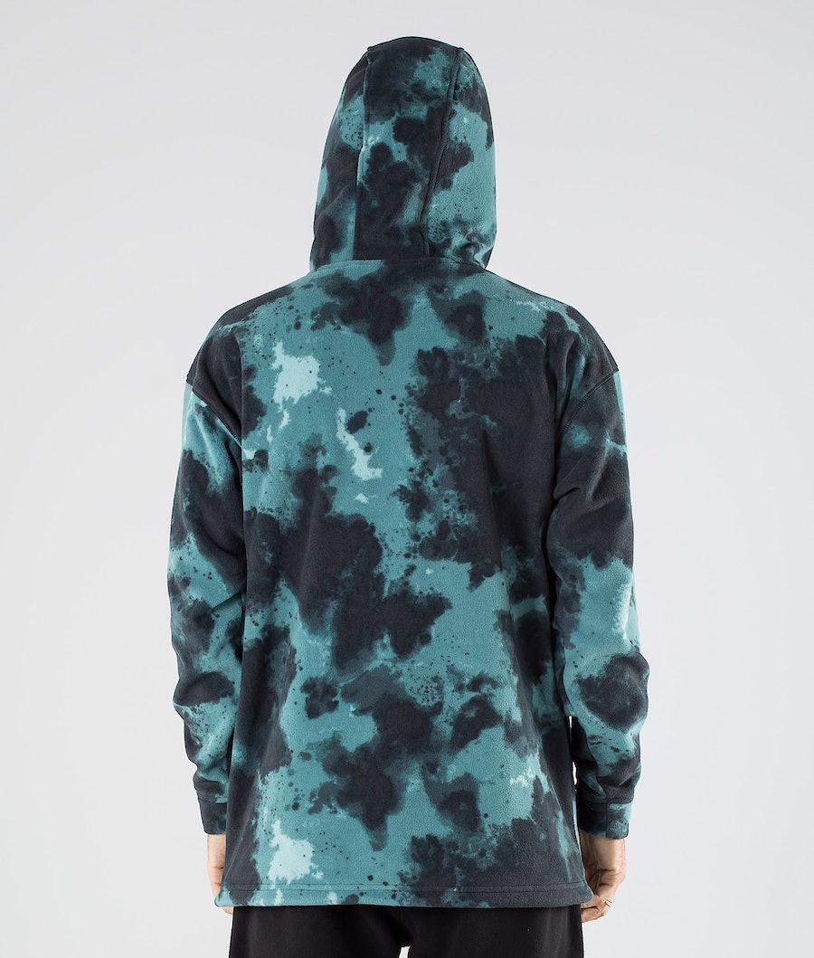 Montec Delta Fleece Hoodie Green Tie Dye