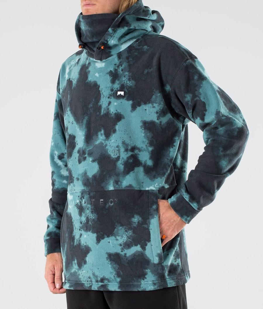 Montec Delta Fleece Hood Green Tie Dye