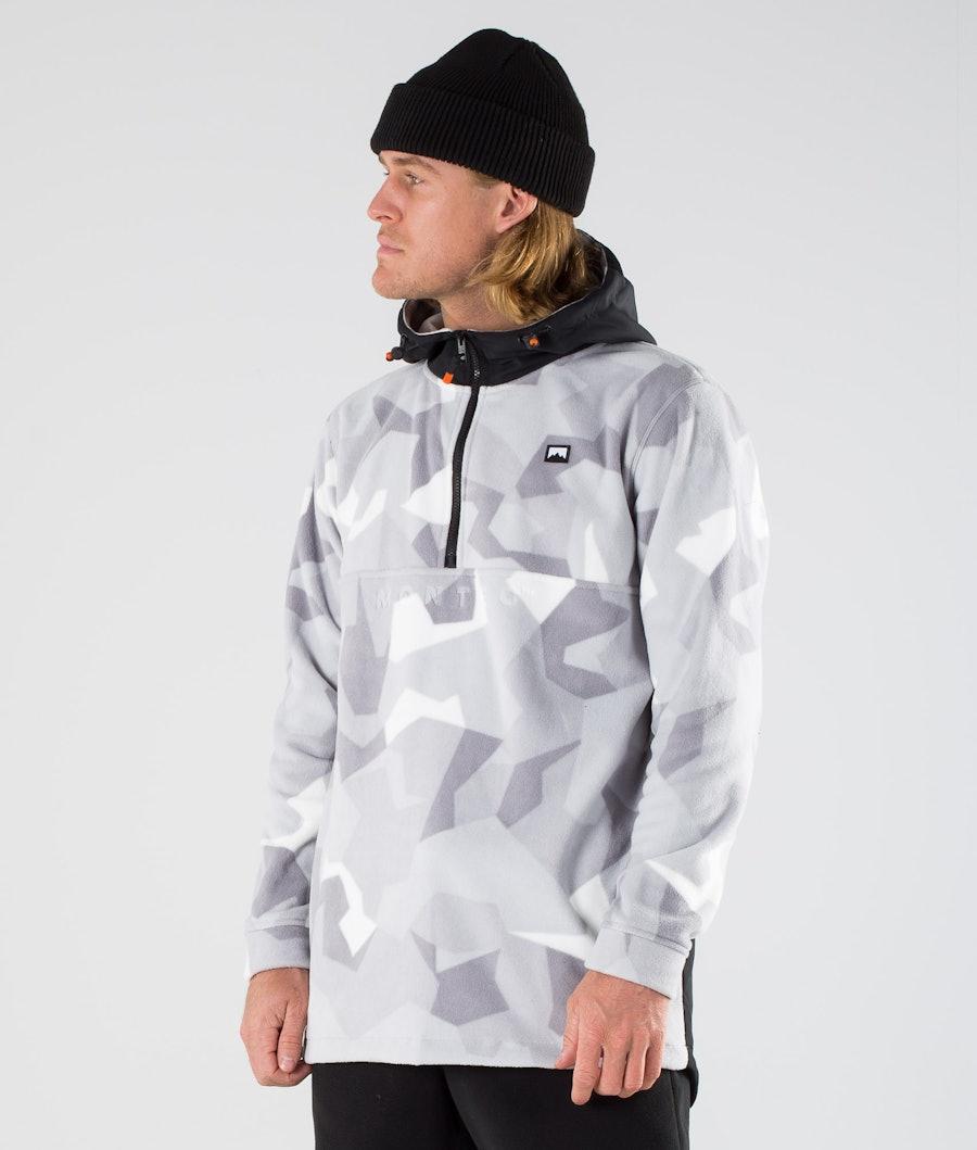 Montec Echo PO Fleece Hood Black/Snow Camo