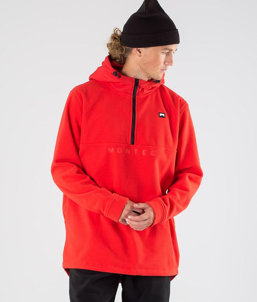 Montec Echo PO Fleece Hood Red Fleece Hood Red