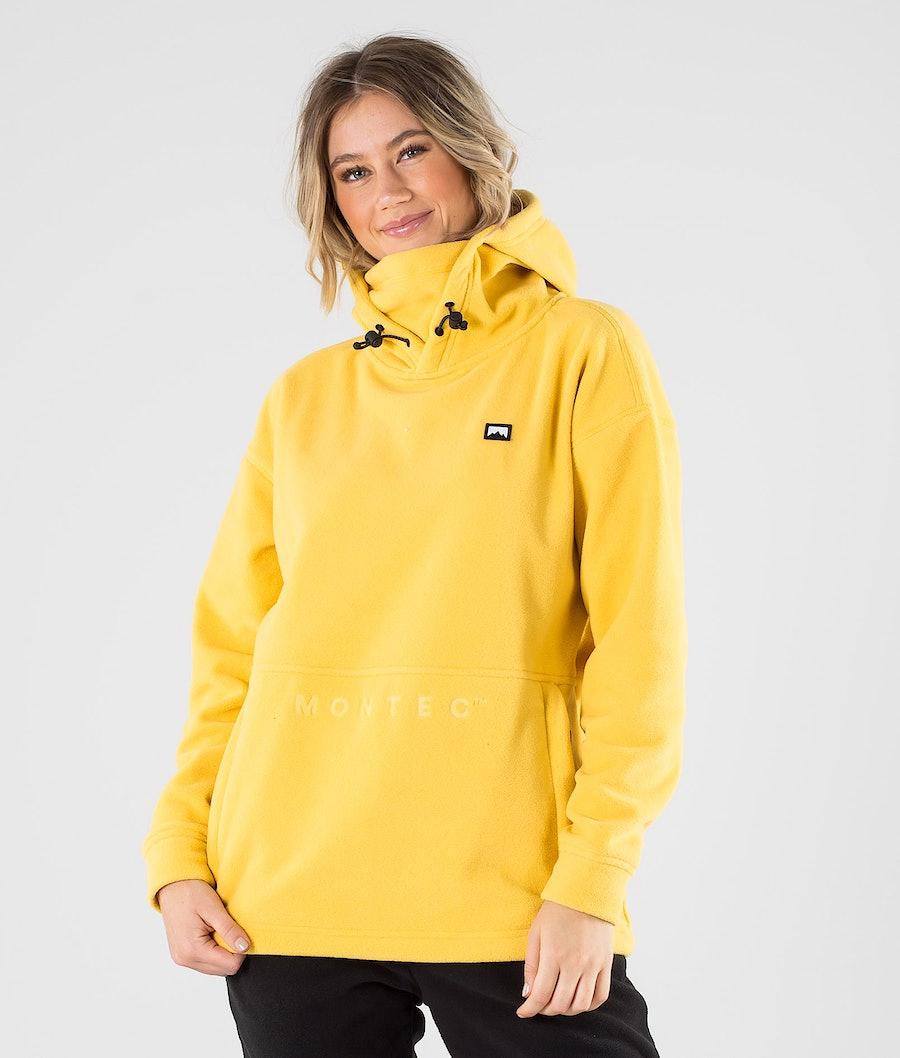 Delta W Fleece Hoodie Women Yellow