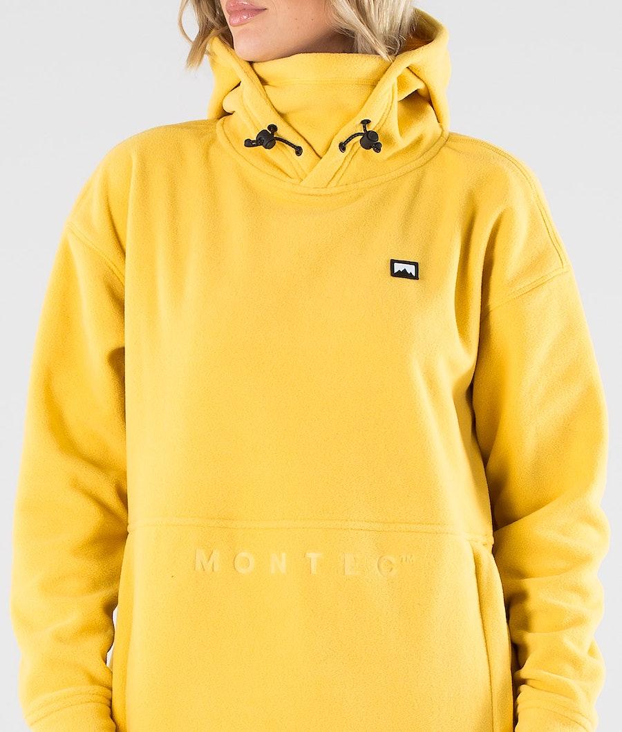 Montec Delta W Women's Fleece Hood Yellow