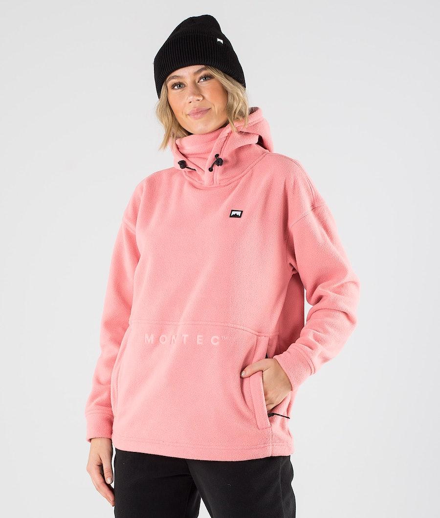 Delta W Fleece Hoodie Women Pink