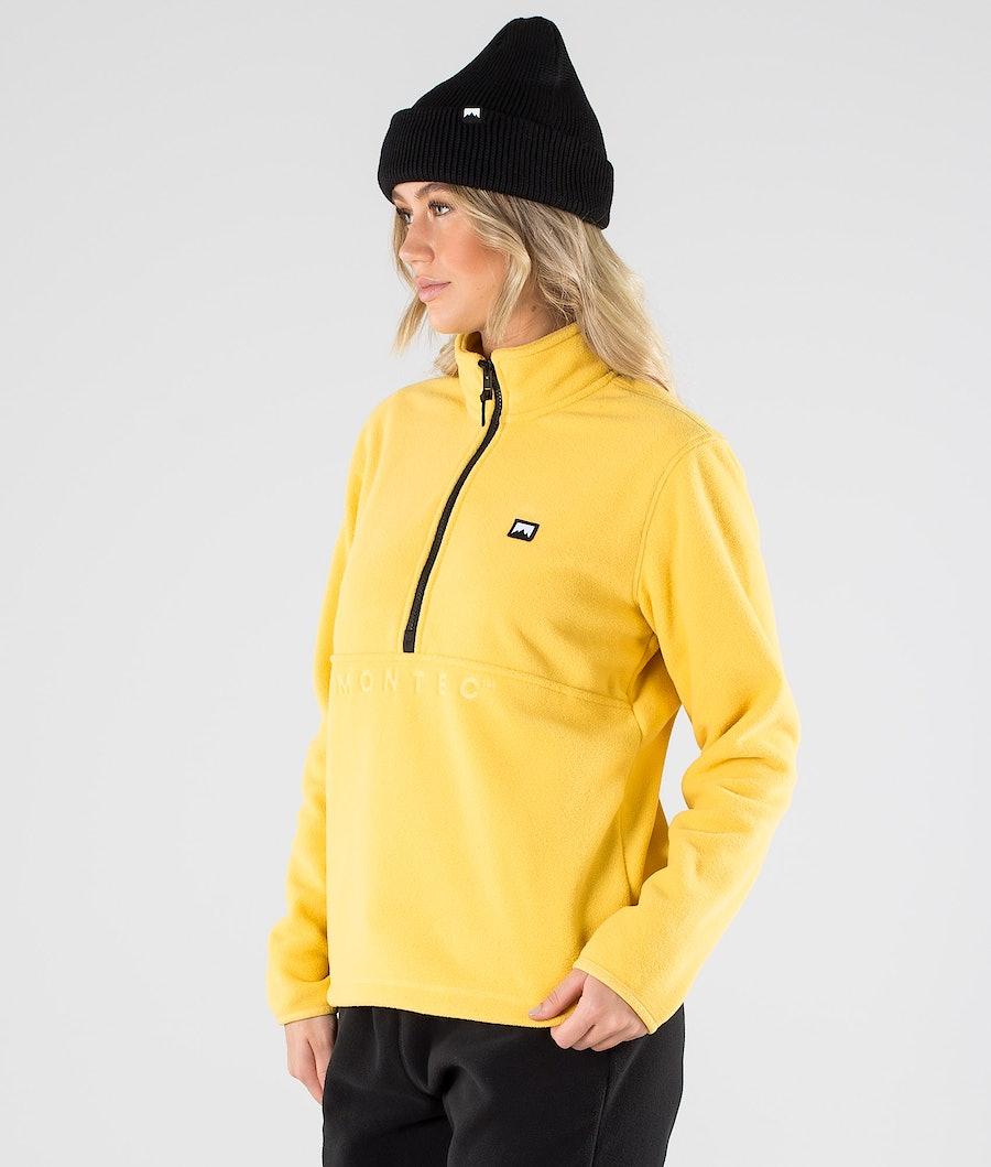 Echo W Fleece Sweater Women Yellow