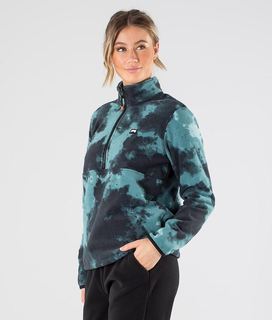 Echo W Fleece Sweater Women Green Tie Dye