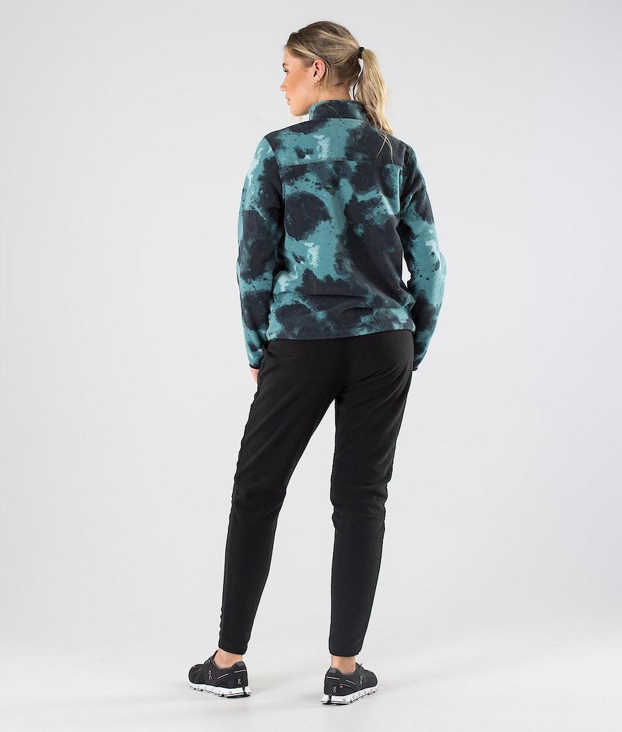 Montec Echo W Women's Fleece Sweater Green Tie Dye