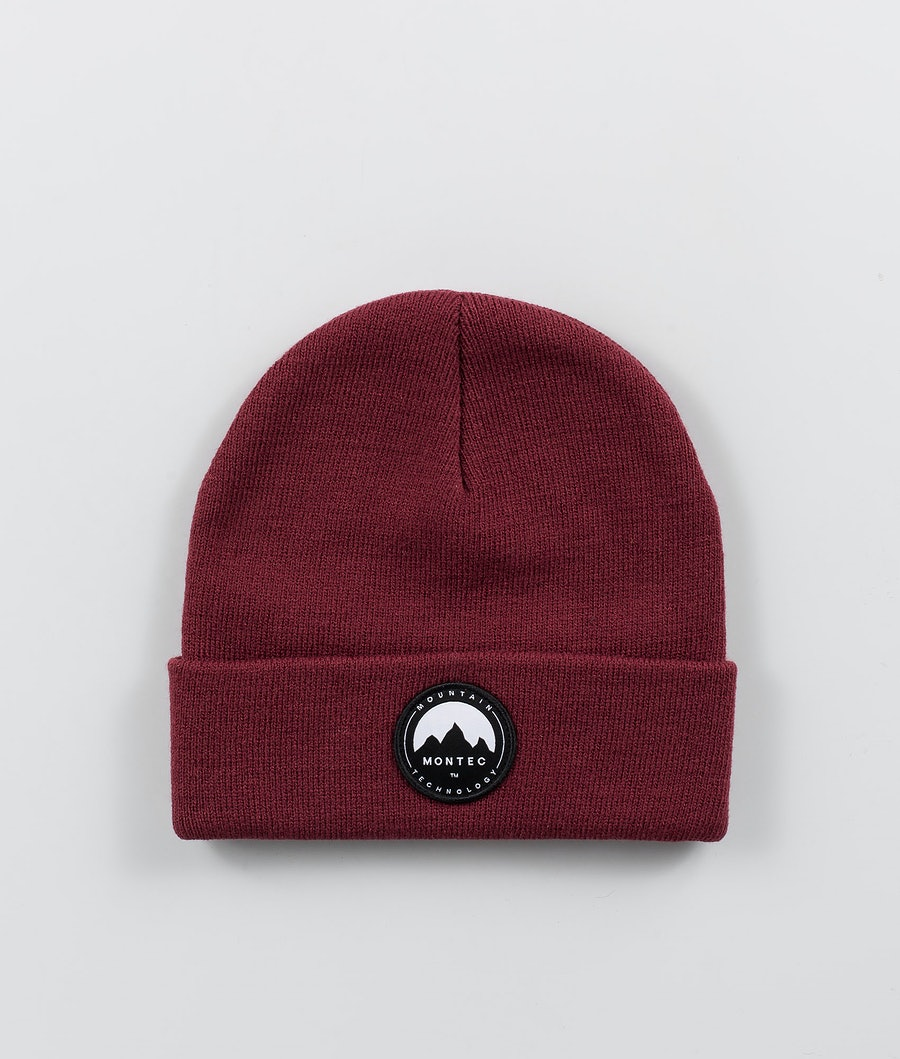 Patch Beanie Men Burgundy
