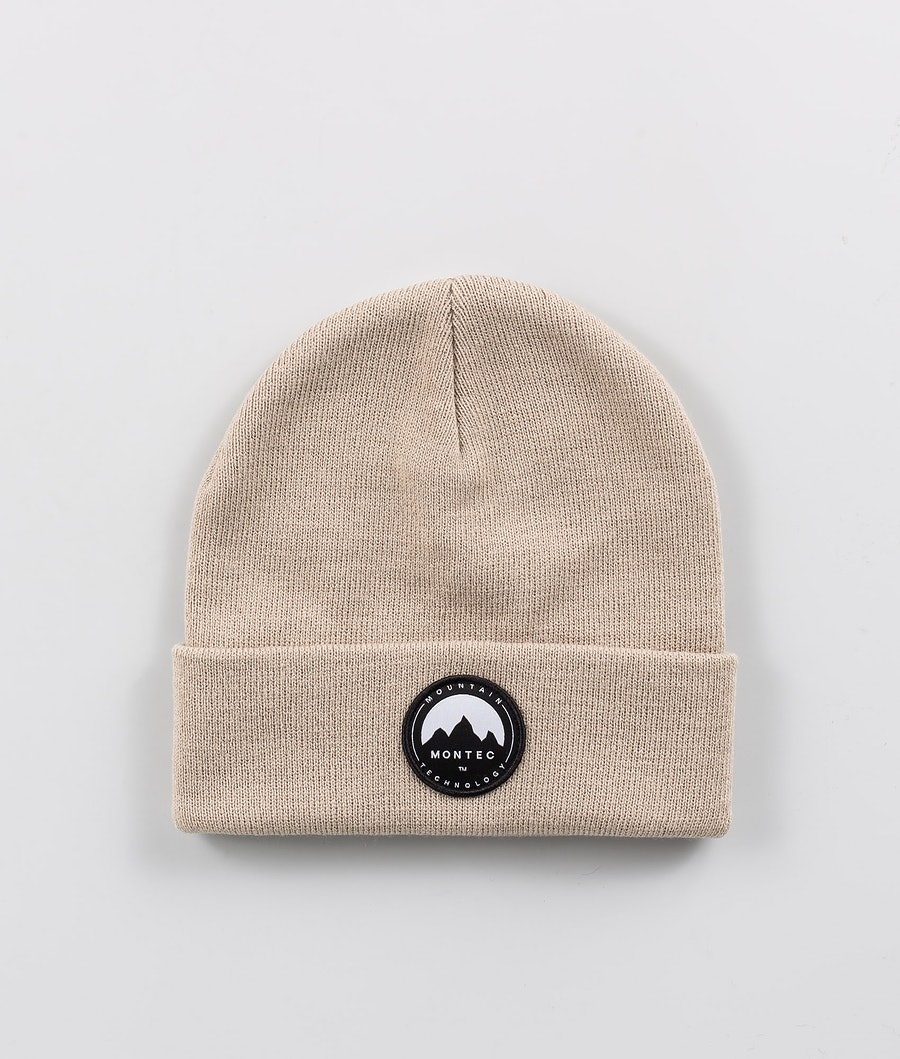 Patch Beanie Men Sand