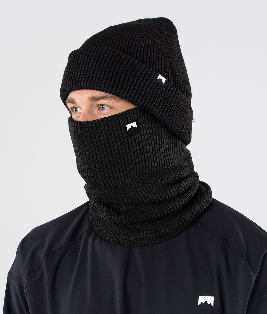 Classic Knitted Facemask Men Black