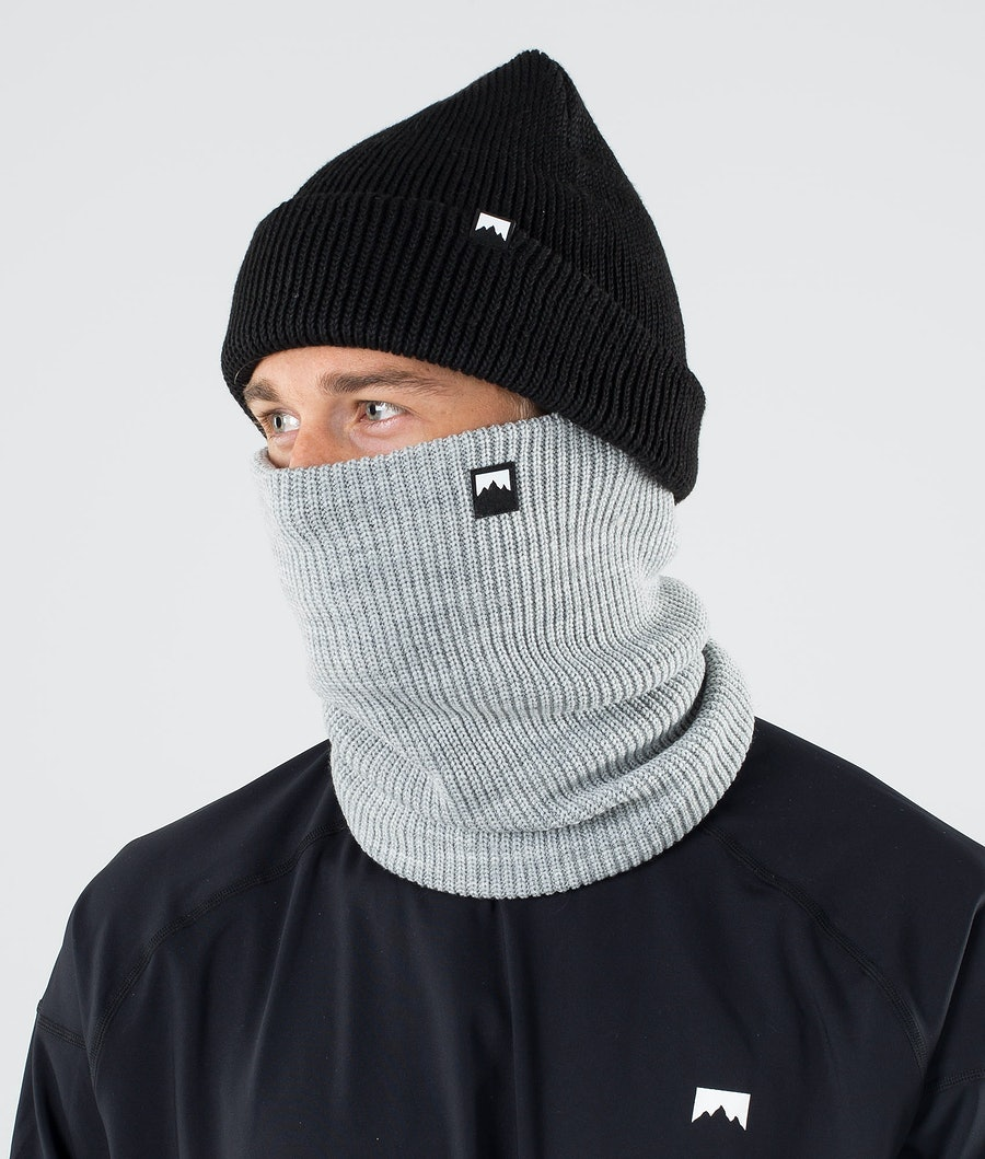 Classic Knitted Facemask Men Grey Melange