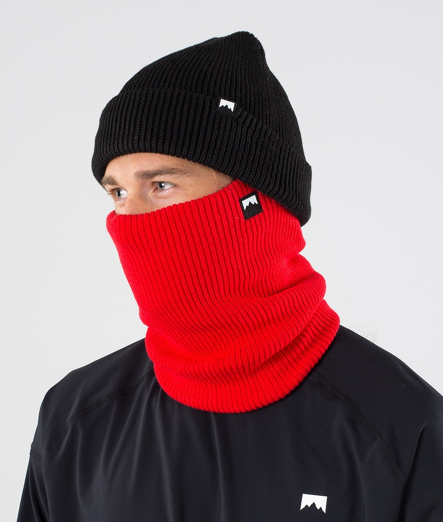 Classic Knitted Facemask Men Red