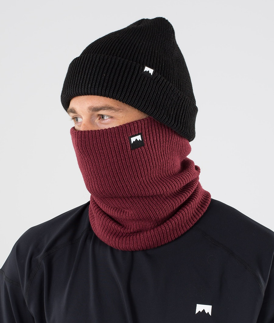 Classic Knitted Facemask Men Burgundy