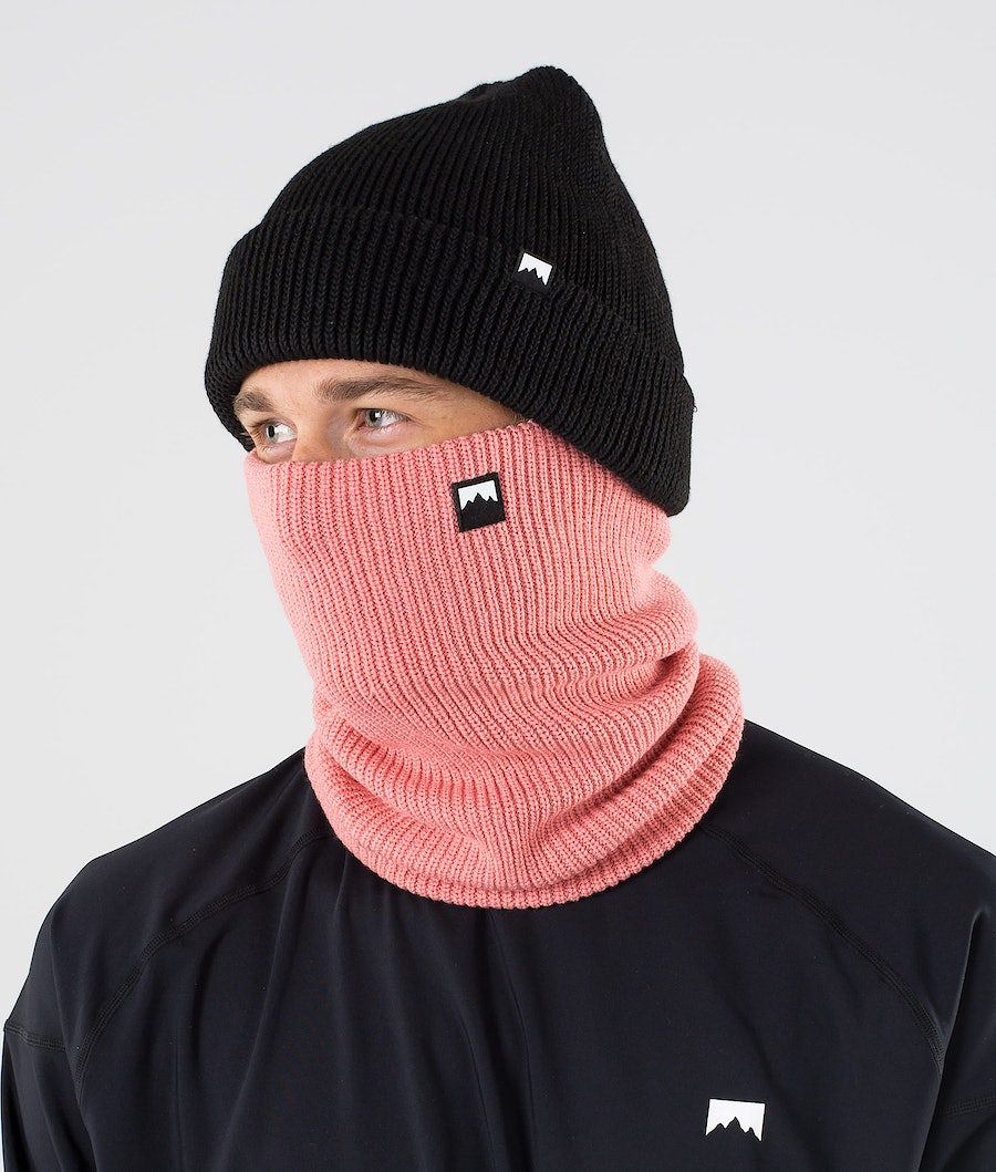 Classic Knitted Facemask Men Pink