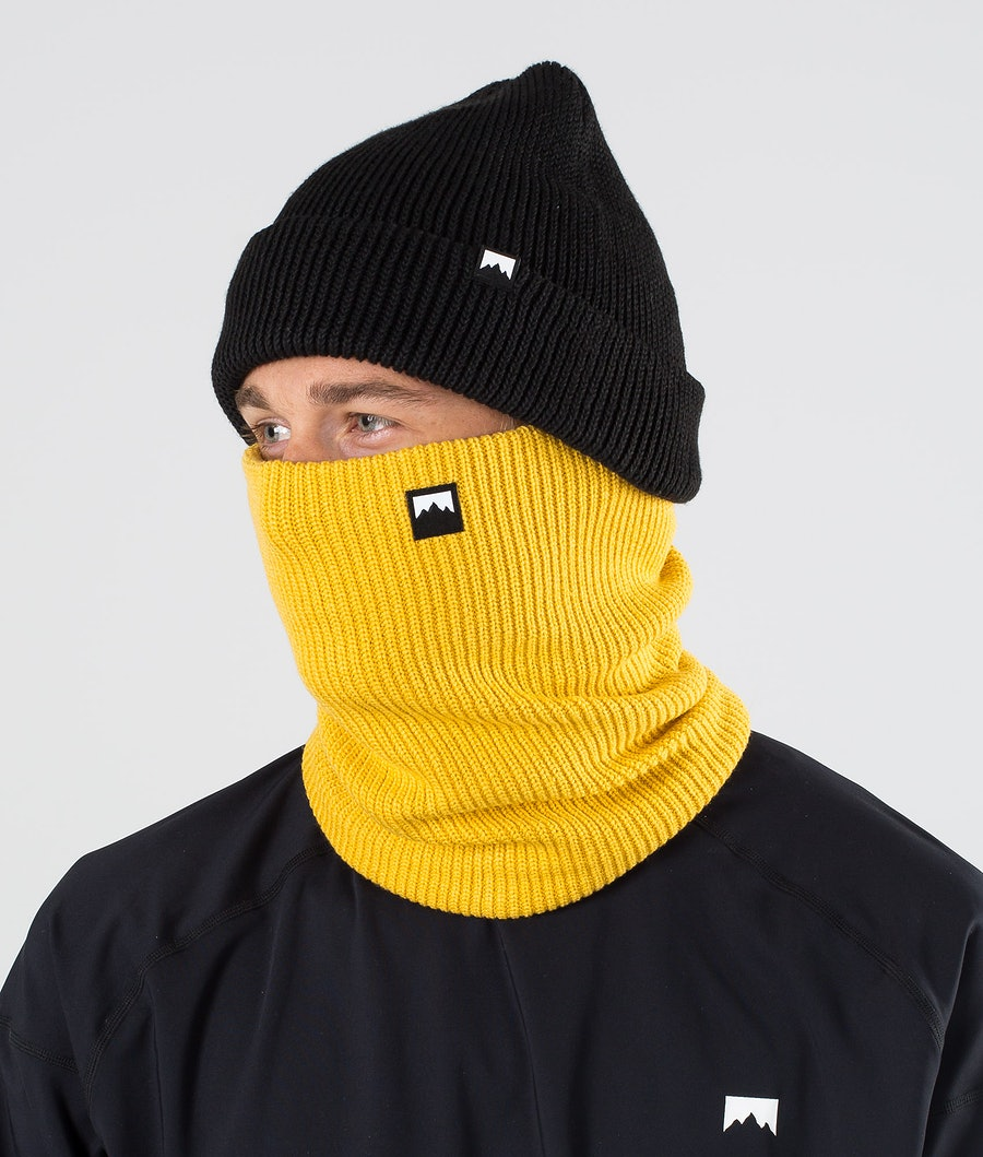 Montec Classic Knitted Facemask Yellow Facemask Yellow