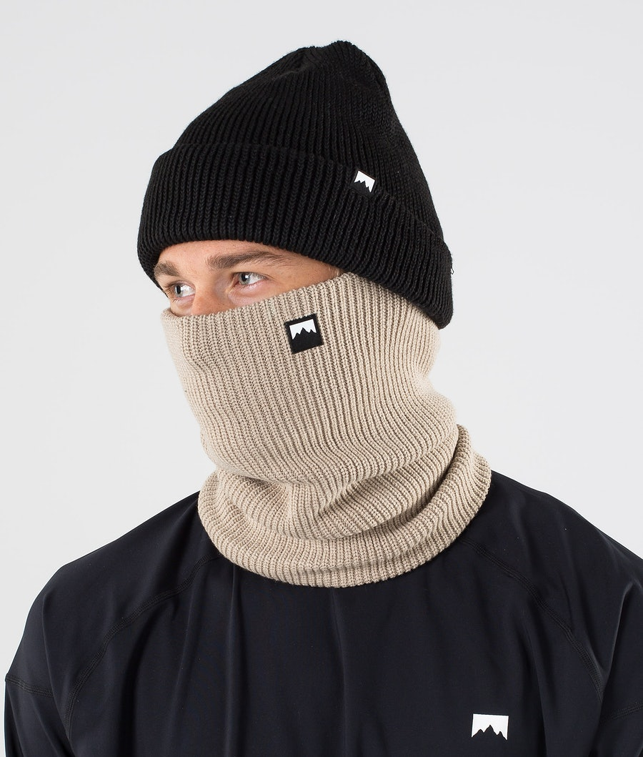 Classic Knitted Facemask Men Sand
