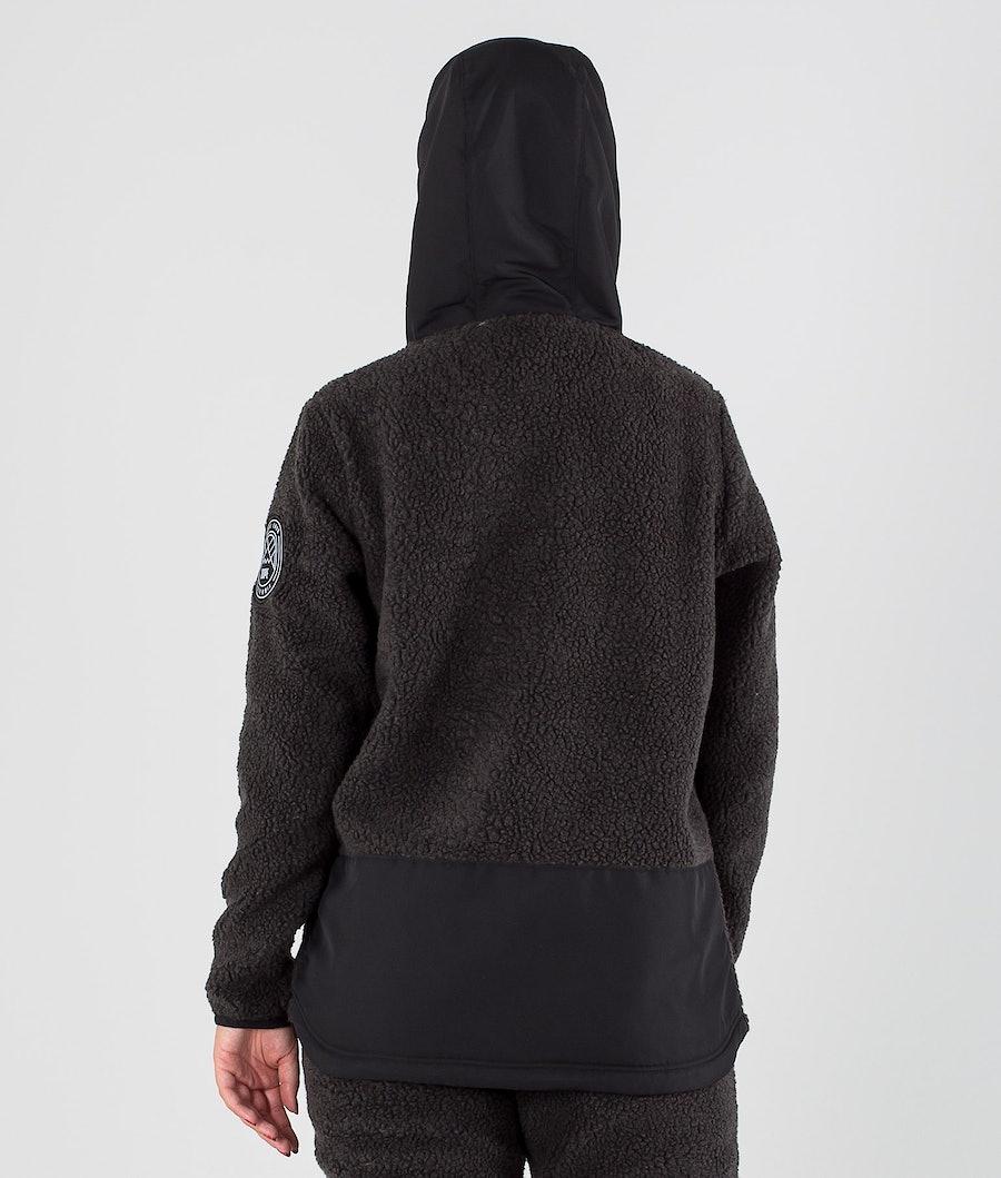 Dope Oi W Fleece Hoodie Damen Phantom/Black