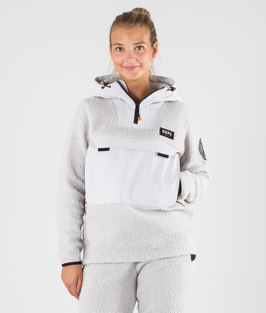 Oi W Fleece Hoodie Women Light Grey