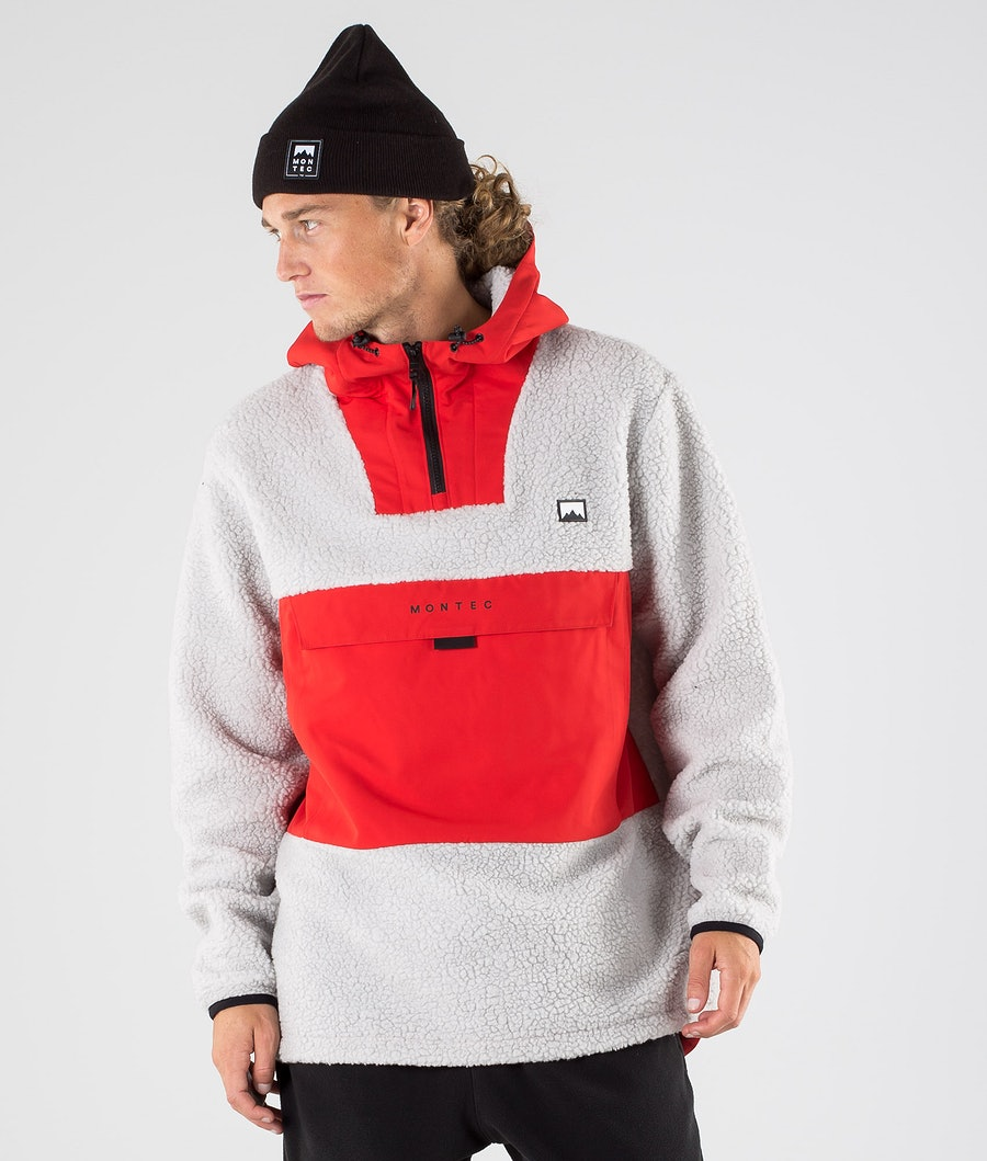 Lima Fleece Hoodie Men Red/Light Grey