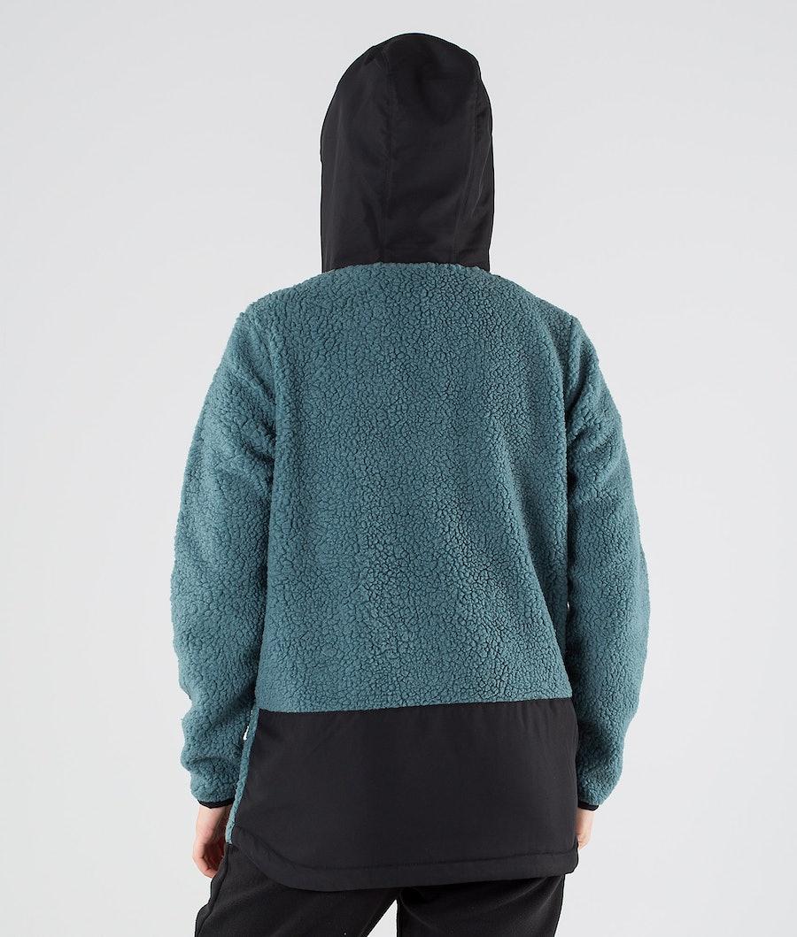 Montec Lima W Women's Fleece Hoodie Black/Atlantic