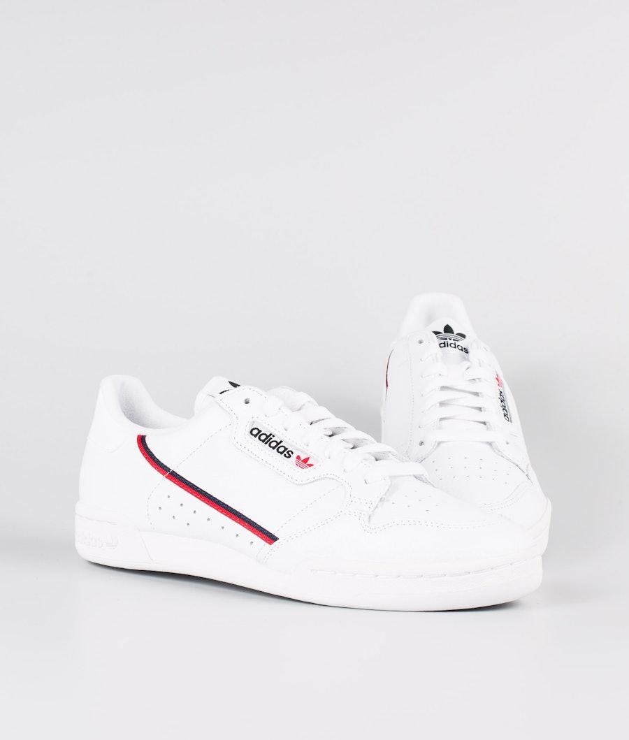 Adidas Originals Continental 80 Kengät Footwear White/Scarlet/Collegiate Navy