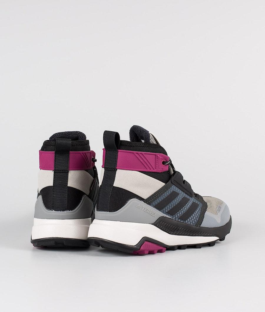 Adidas Terrex Terrex Trailmaker Mid CRDY Women's Shoes Metal Grey/Core Black/Power Berry
