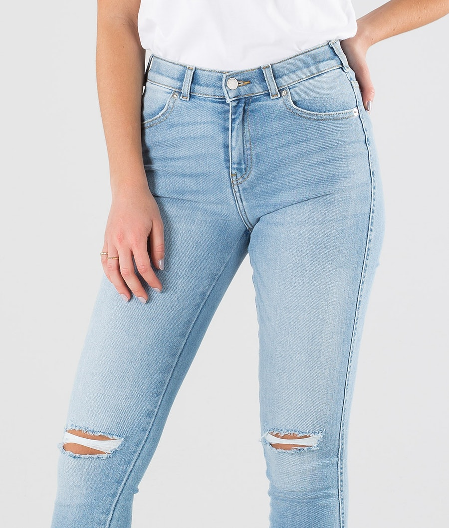 Dr Denim Lexy Women's Pants Icicle Blue Ripped