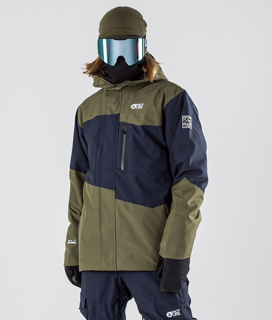 Picture Styler Snowboardjacke Dark Blue Army Green