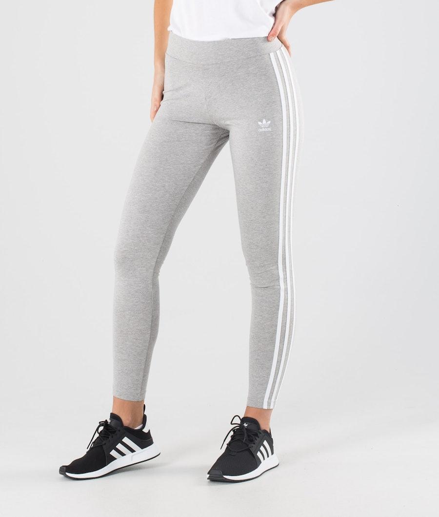 Adidas Originals 3 Stripes Leggings Medium Grey Heather/White