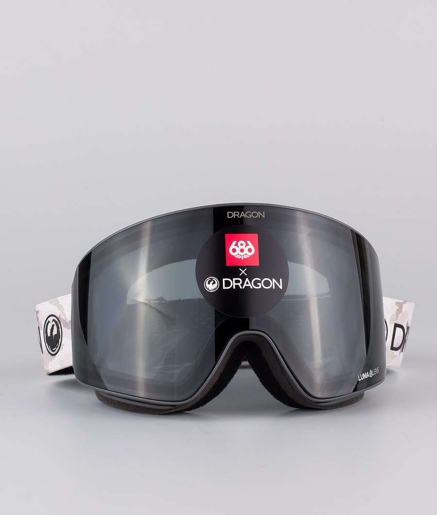 Dragon PXV Skidglasögon 686 Camo w/Lumalens Dark Smoke+Lumalens Rose