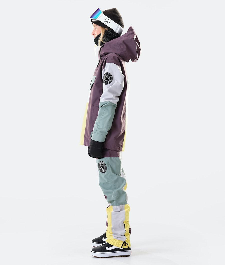 Dope Blizzard LE W Women's Snowboard Jacket Faded Green Patchwork
