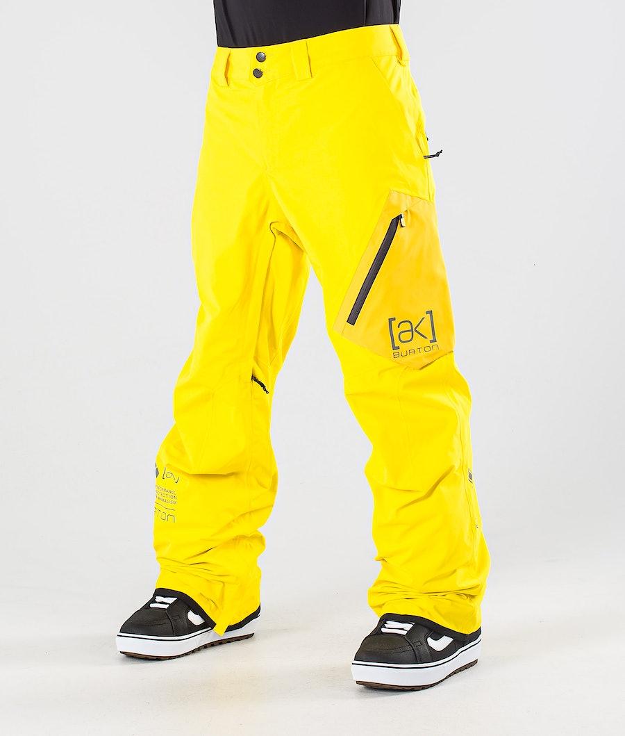Burton AK GoreTex Cyclic Snowboard Pants Cyber Yellow/Spectra Yellow