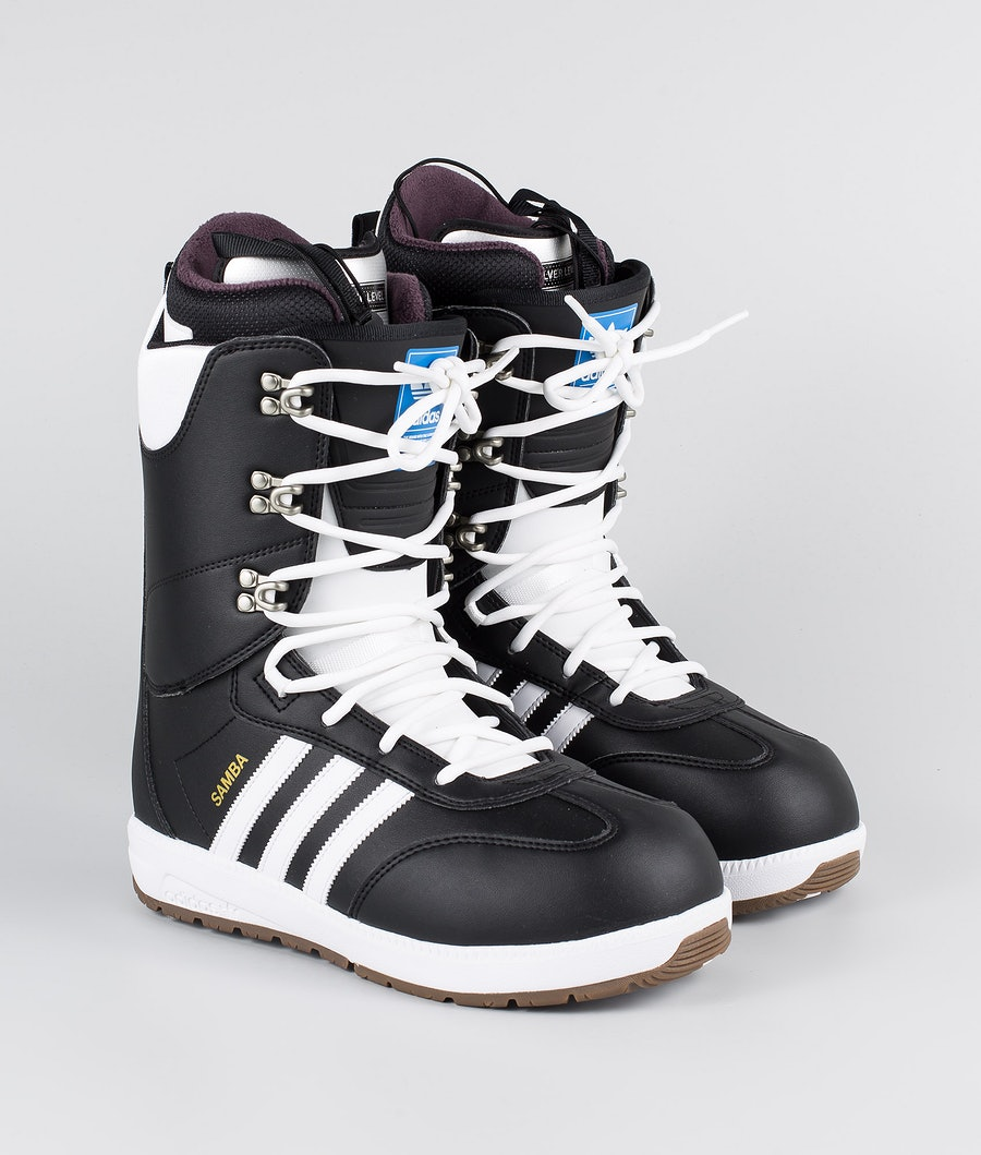 Adidas Snowboarding Samba Adv Snowboard Boots Core Black/Footwear White/Gold Met