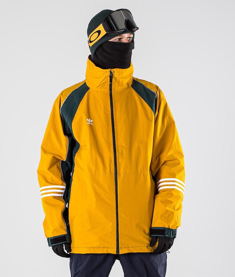 Adidas Snowboarding 10K DNA Snowboard jas Legacy Gold/Mineral Grey/White