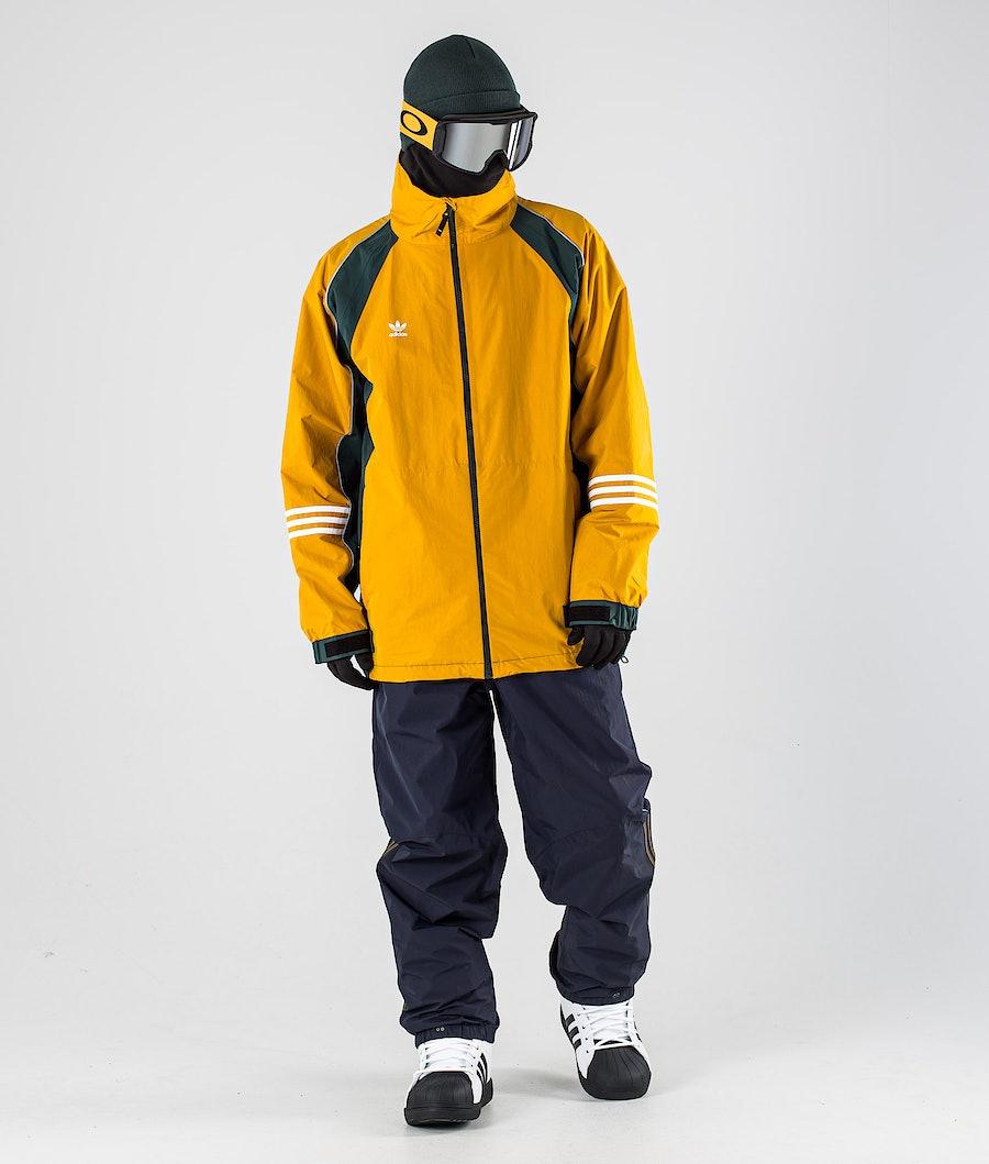 Adidas Snowboarding 10K DNA Snowboard Jacket Legacy Gold/Mineral Grey/White