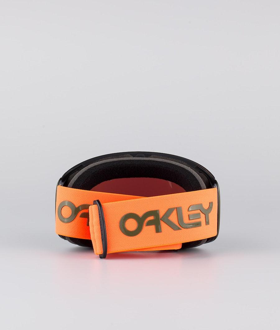 Oakley Flight Deck XL Skibril Factory Pilot Orange Dark Brush With Prizm Snow Jade Lens