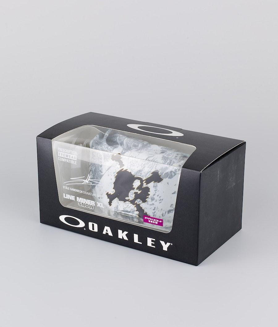 Oakley Line Miner XL Skibril Stale Sandbech Sig Lunar Rock With Prizm Snow Dark Grey Lens