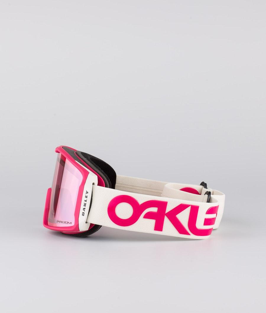 Oakley Line Miner XM Skibril Factory Pilot Rubine Grey With Prizm Snow Hi Pink Lens