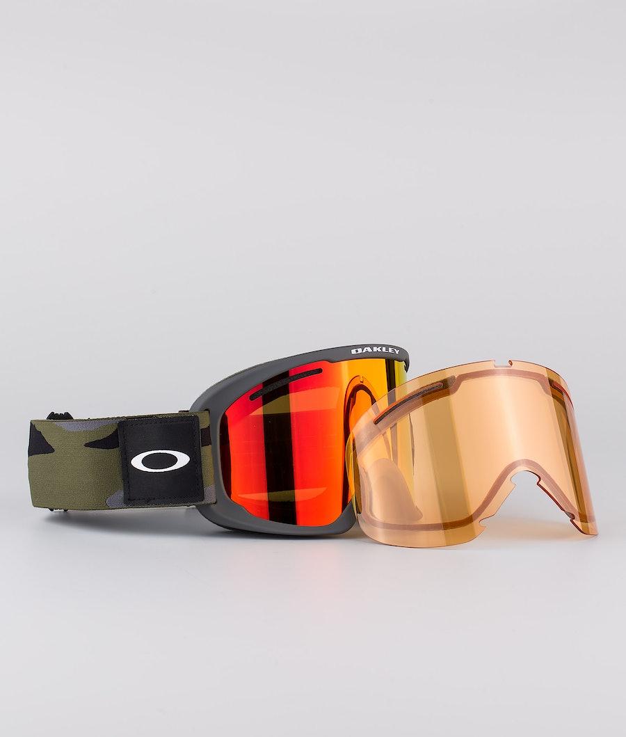 Oakley O Frame 2.0 Pro XL Skidglasögon Dark Brush Camo With Fire Iridium & Persimmon Lens