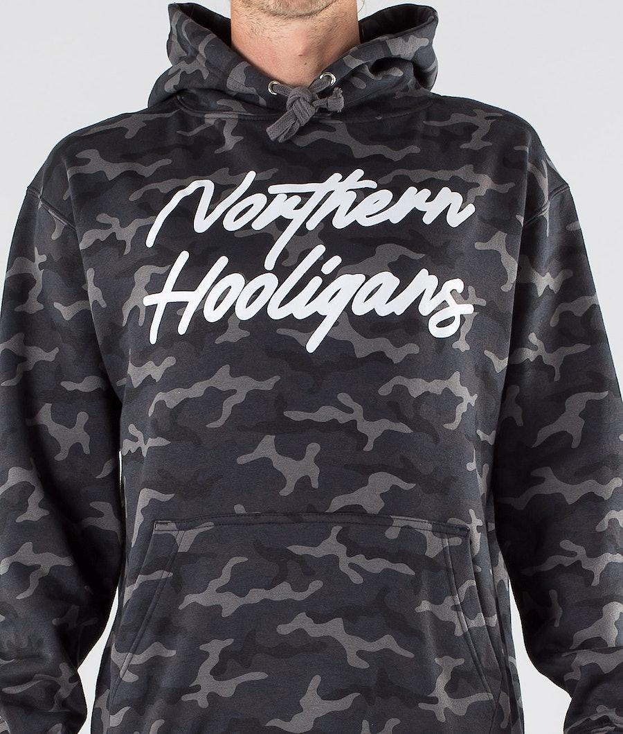 Northern Hooligans Camo Script Hood Black Camo