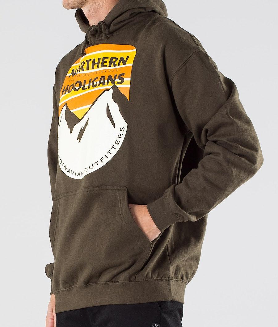 Northern Hooligans Scandinavian Outfitters Hood Dark Camping Green