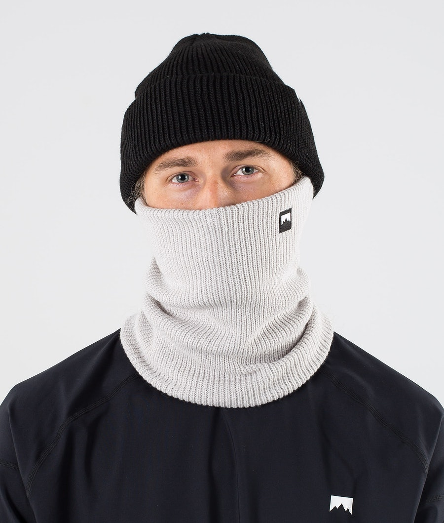 Montec Classic Knitted Facemask Light Grey