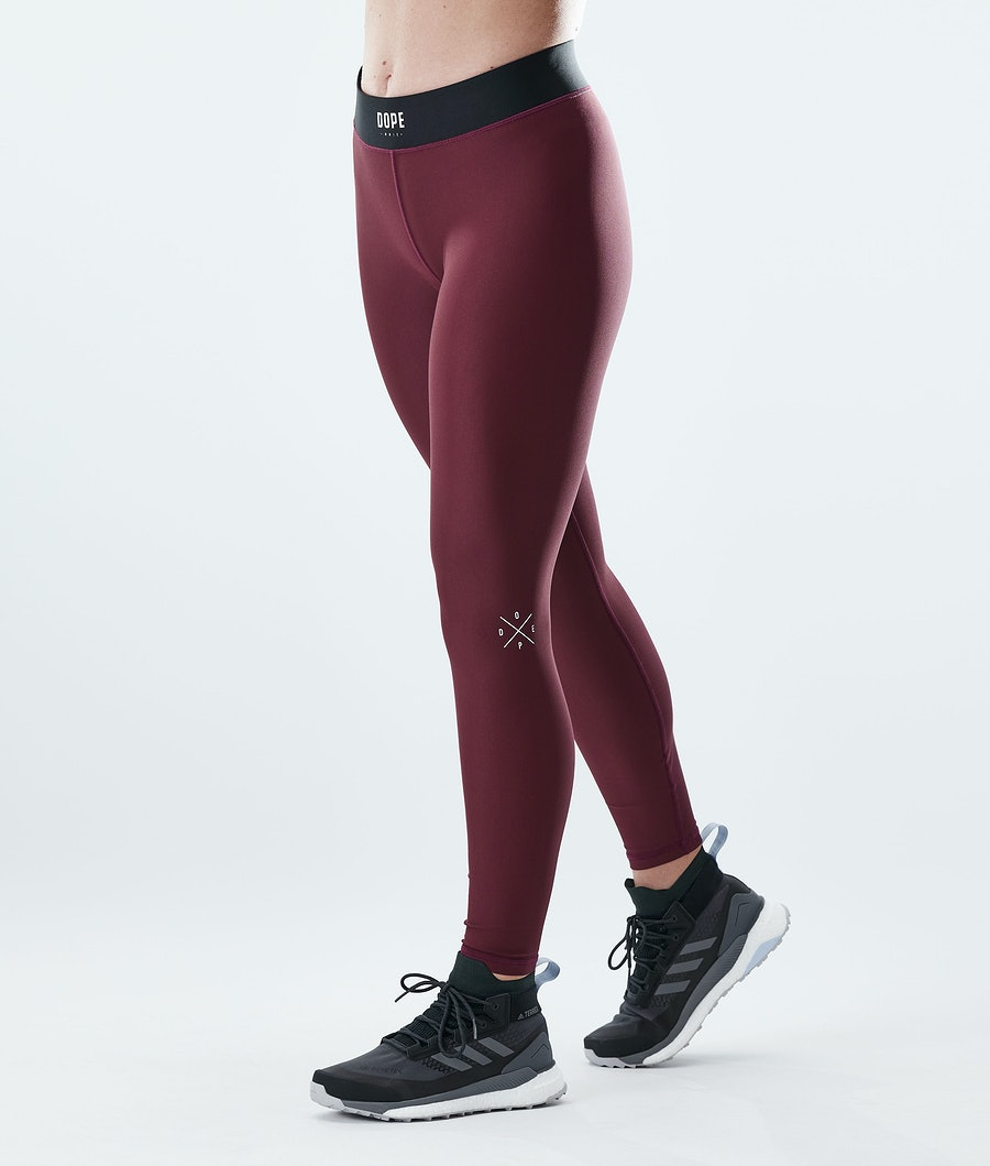 Razor Leggings Women Burgundy