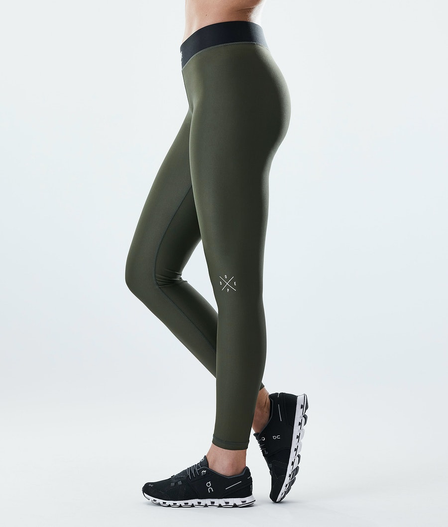 Razor Leggings Women Olive Green
