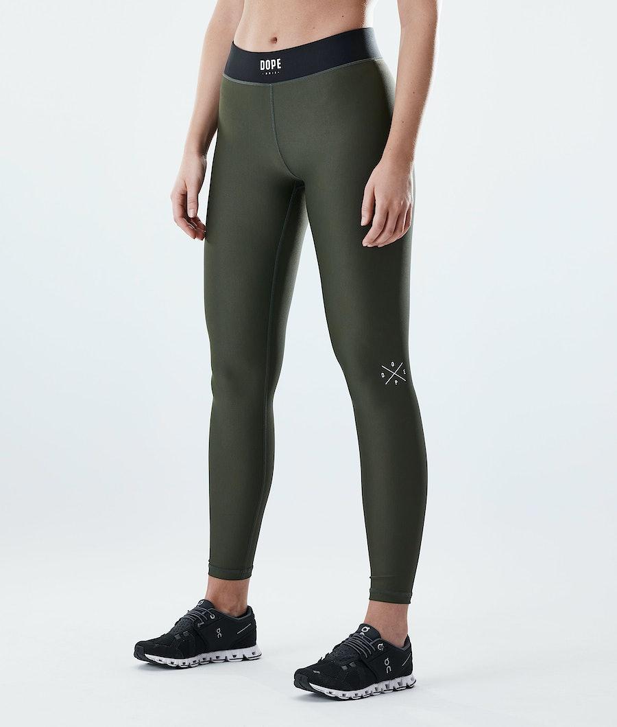 Dope Razor Women's Leggings Olive Green