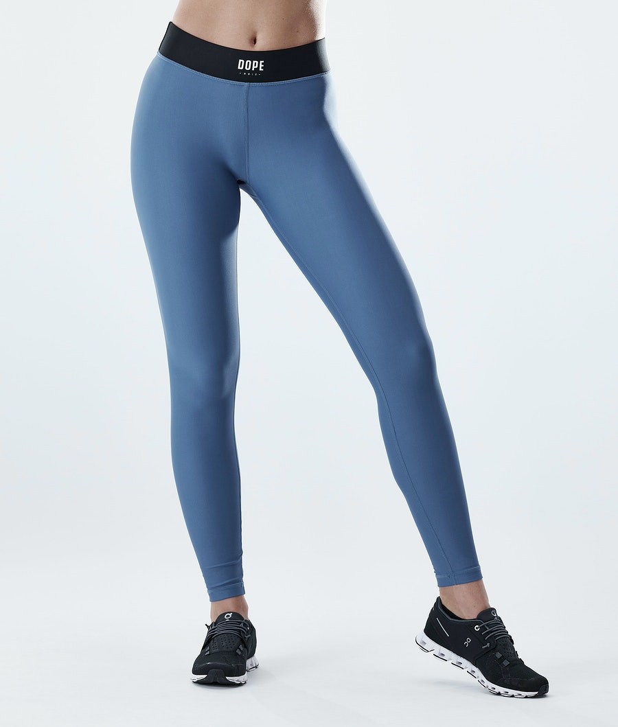 Razor Leggings Women Blue Steel