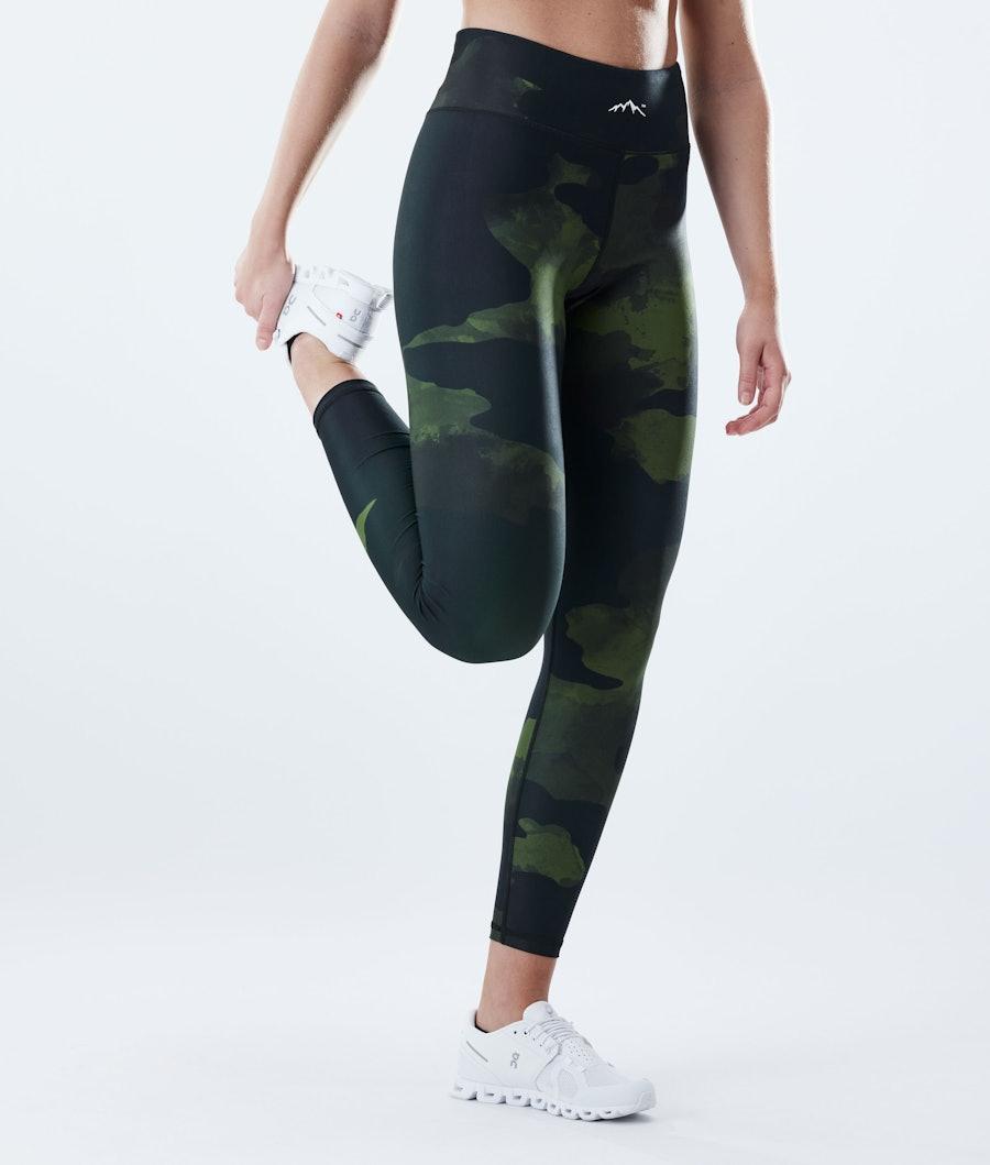 Dope Lofty Women's Leggings Green Camo